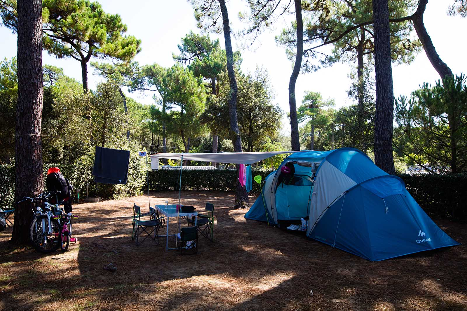 Tent pitch next to the beach | Charente-Maritime